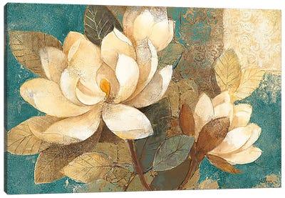 Turquoise Magnolias Canvas Art Print