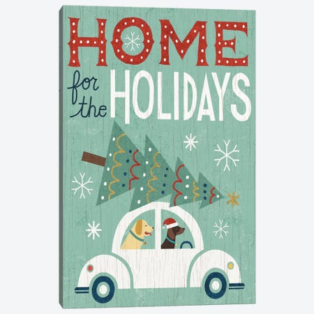Home For The Holidays Canvas Print #WAC4304} by Michael Mullan Canvas Print