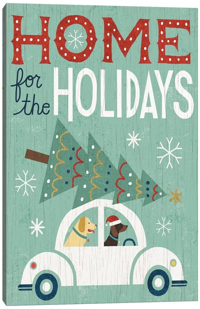 Holiday On Wheels Series: Home For The Holidays Canvas Art Print