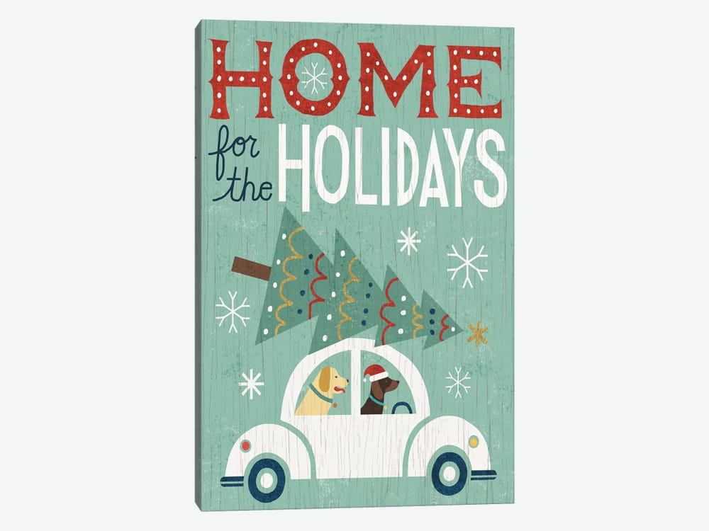 Home For The Holidays 1-piece Canvas Art