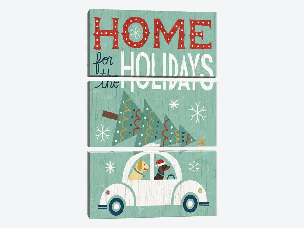 Home For The Holidays 3-piece Canvas Art