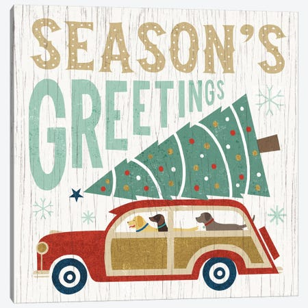 Season's Greetings Canvas Print #WAC4305} by Michael Mullan Canvas Art Print