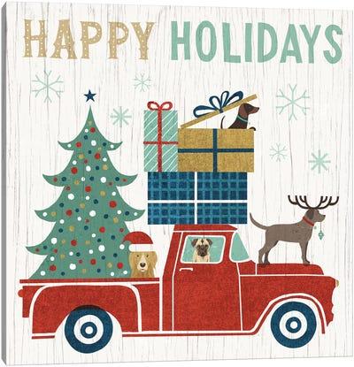 Holiday On Wheels Series: Happy Holidays I Canvas Print #WAC4306