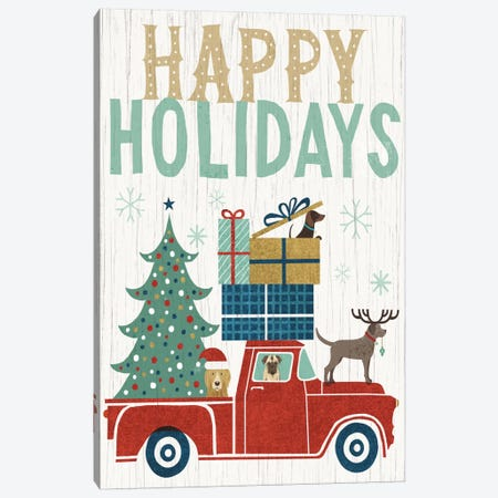 Happy Holidays II Canvas Print #WAC4307} by Michael Mullan Canvas Art Print