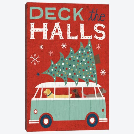 Deck The Halls Canvas Print #WAC4308} by Michael Mullan Canvas Wall Art