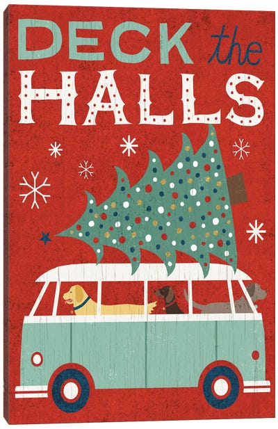 Deck The Halls Canvas Art Print