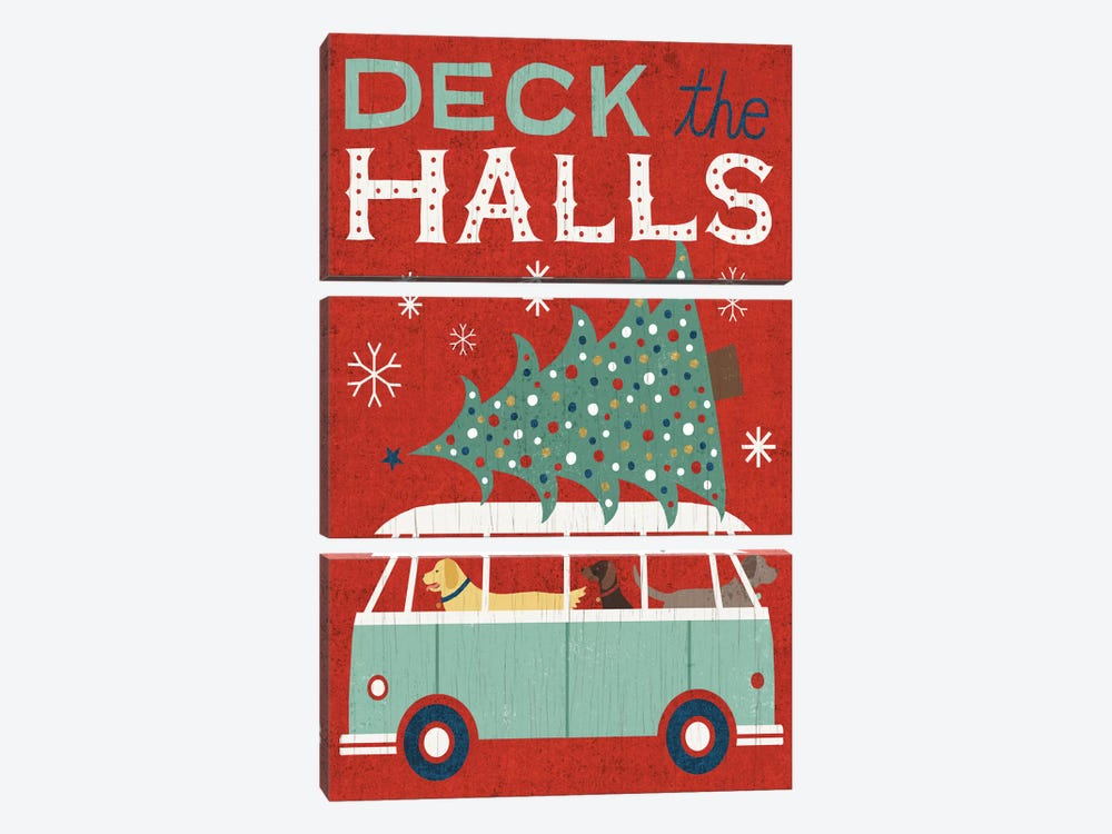 Deck The Halls by Michael Mullan 3-piece Canvas Art