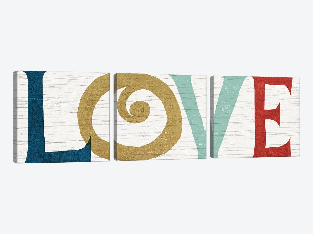 LOVE by Michael Mullan 3-piece Canvas Art Print