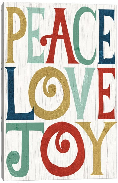Peace, Love, Joy Canvas Art Print