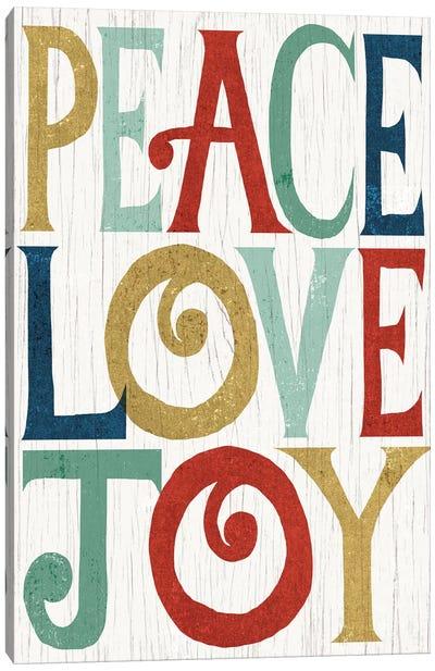 Peace, Love, Joy Canvas Art Print