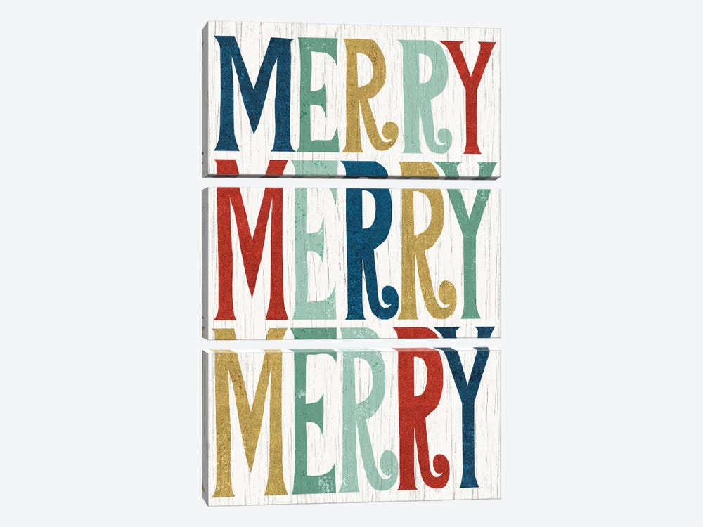 Merry, Merry, Merry by Michael Mullan 3-piece Art Print