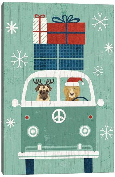 Holiday On Wheels Series: Santa's Helpers Canvas Print #WAC4313
