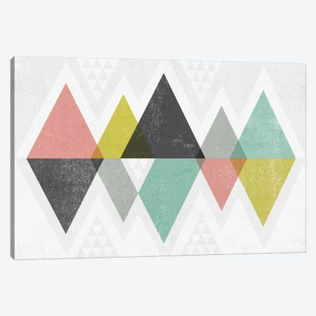 Mod Triangles II Canvas Print #WAC4318} by Michael Mullan Canvas Print