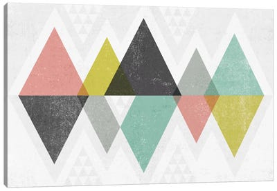 Mod Triangles II Canvas Art Print