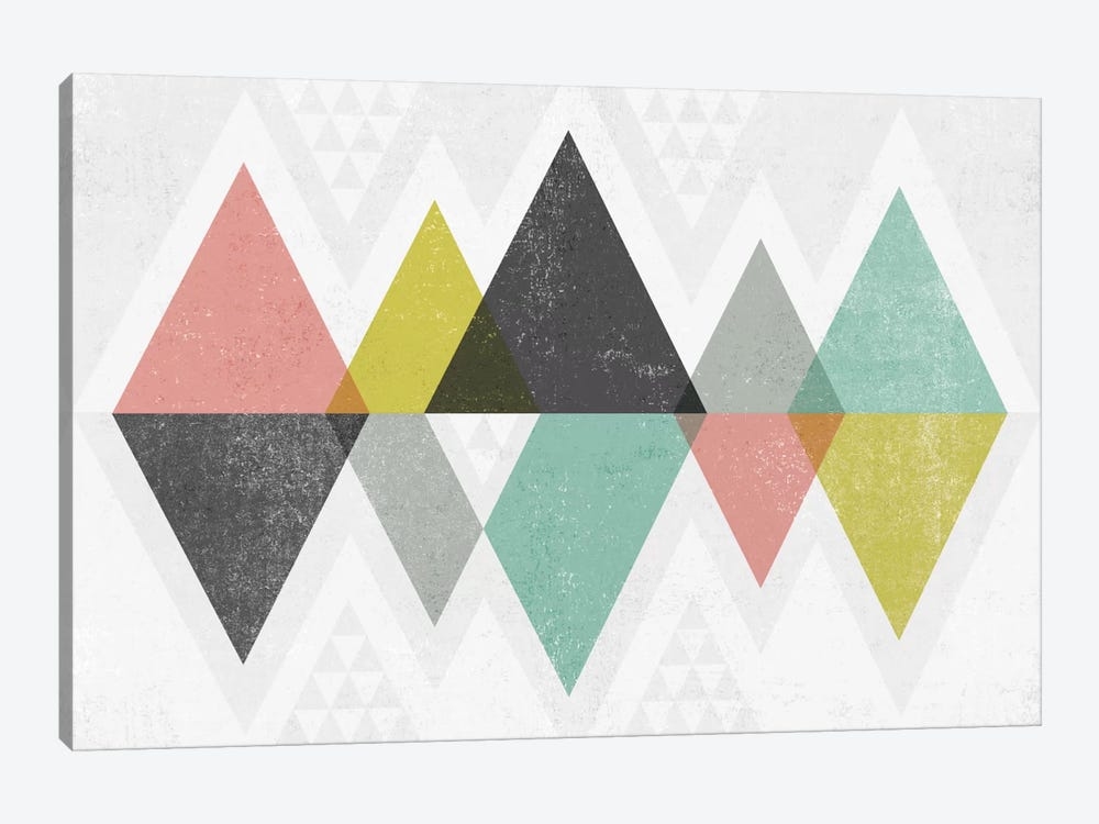 Mod Triangles II by Michael Mullan 1-piece Art Print