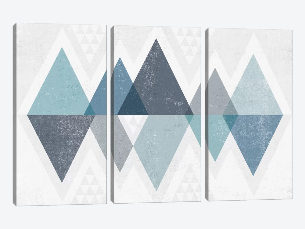 Mod Triangles II.A by Michael Mullan 3-piece Canvas Artwork