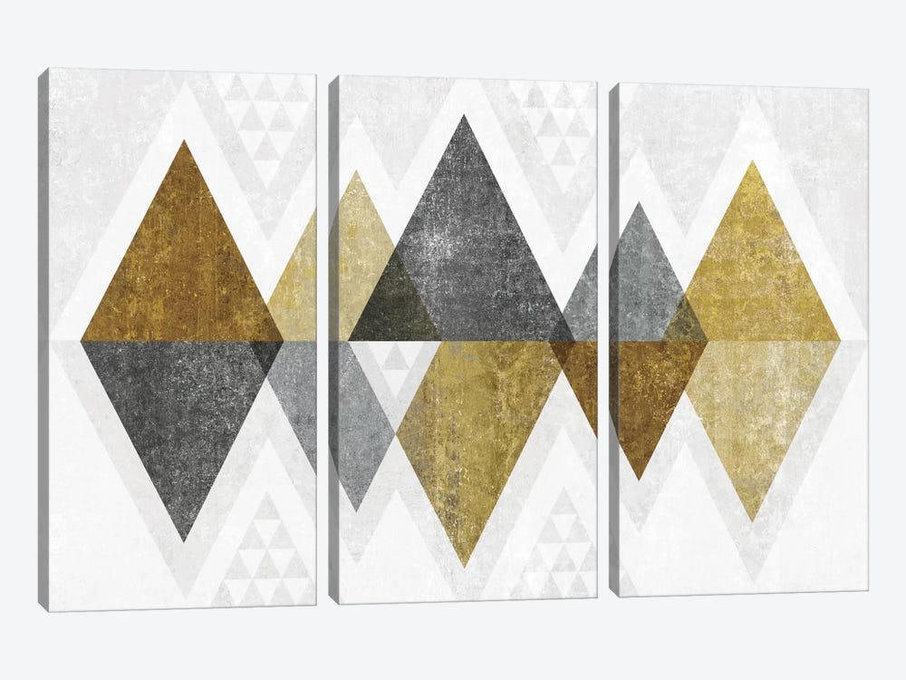 Mod Triangles II.B by Michael Mullan 3-piece Canvas Art