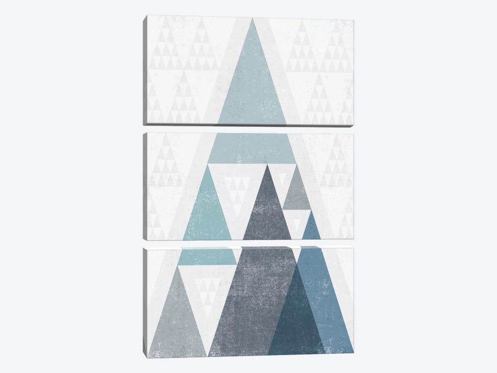 Mod Triangles III.A by Michael Mullan 3-piece Canvas Art Print
