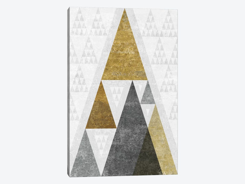 Mod Triangles III.B by Michael Mullan 1-piece Canvas Wall Art