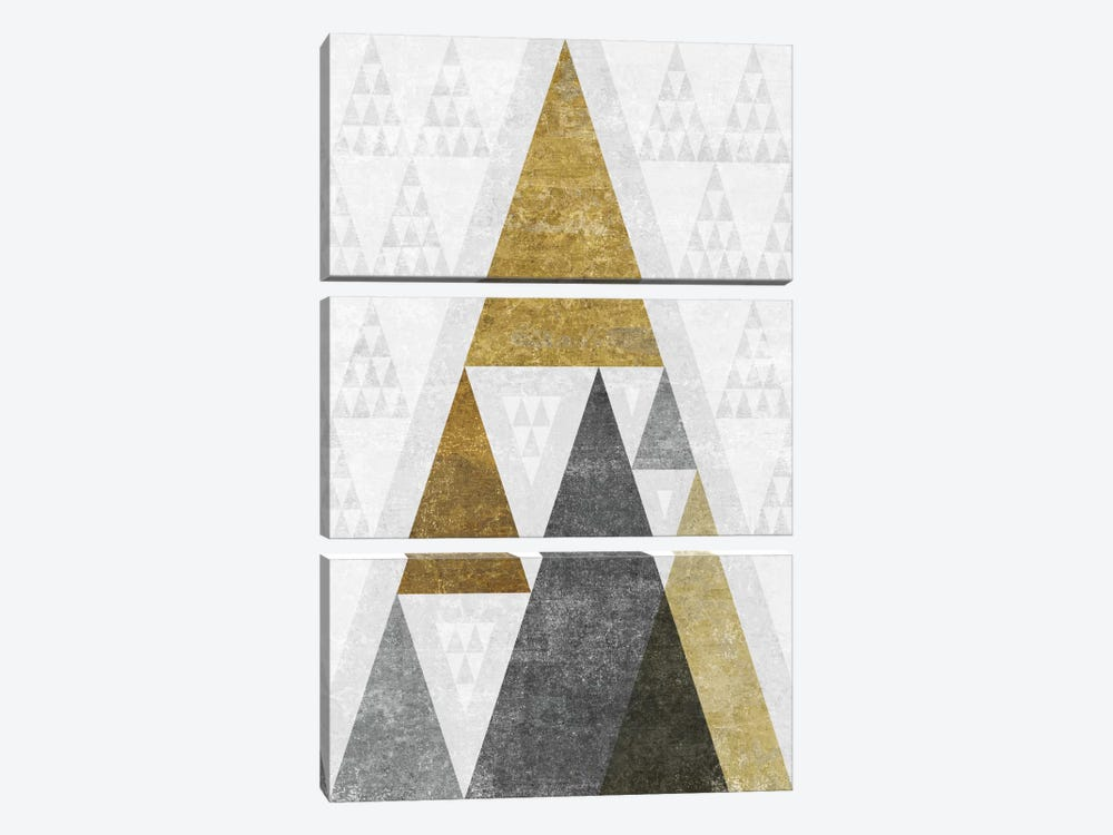 Mod Triangles III.B by Michael Mullan 3-piece Canvas Artwork