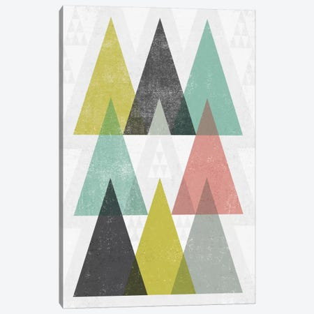 Mod Triangles IV Canvas Print #WAC4323} by Michael Mullan Canvas Wall Art