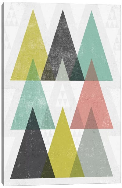 Mod Triangles IV Canvas Art Print