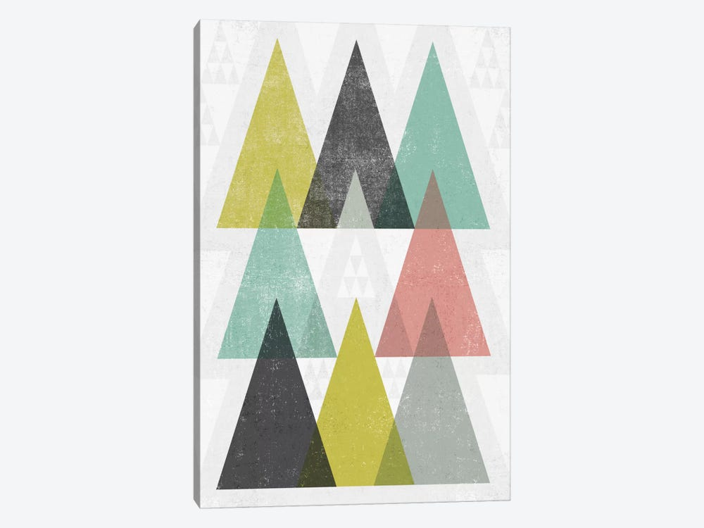 Mod Triangles IV by Michael Mullan 1-piece Canvas Art Print