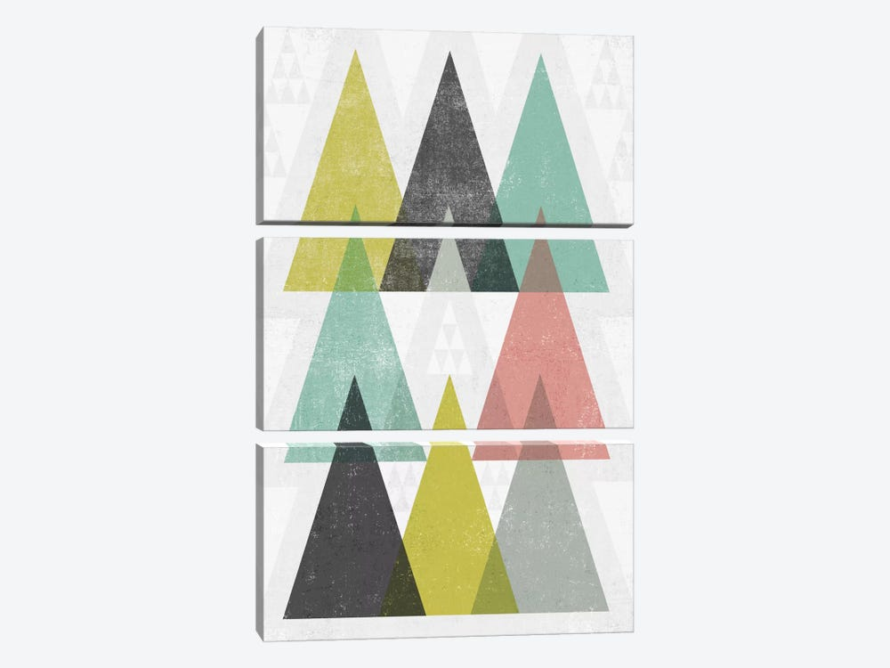 Mod Triangles IV by Michael Mullan 3-piece Art Print