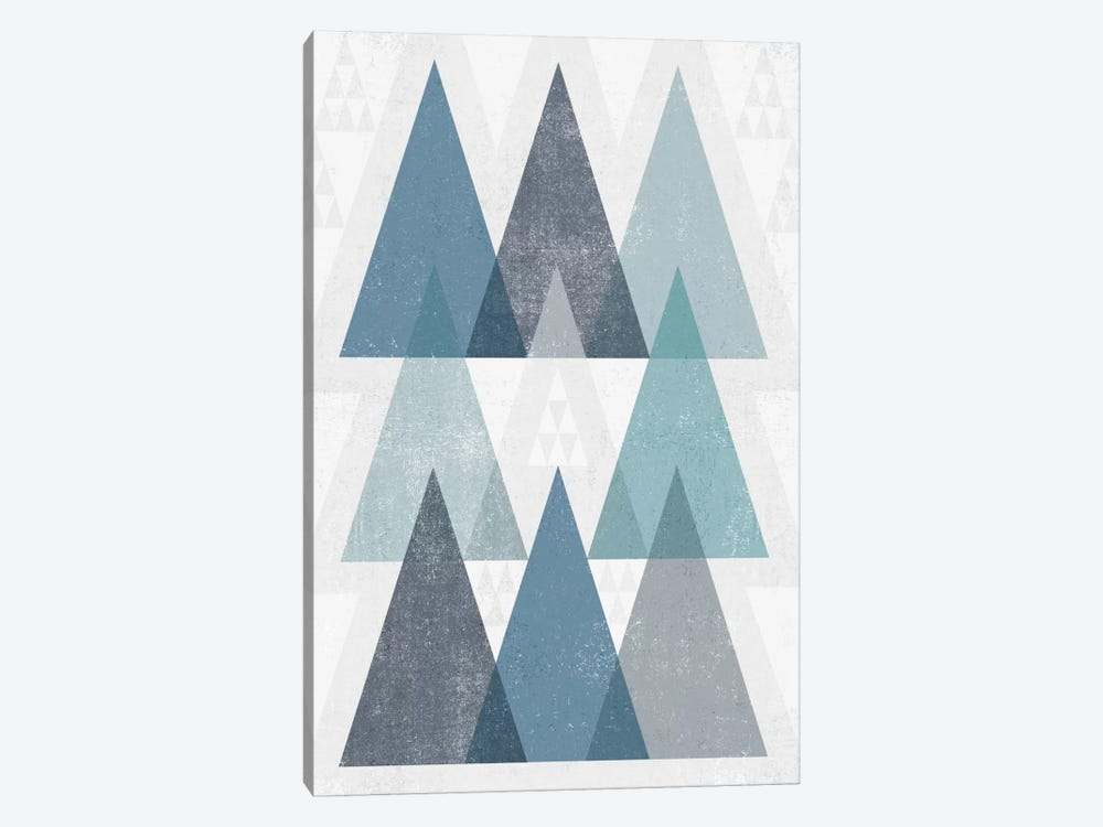 Mod Triangles IV.A by Michael Mullan 1-piece Canvas Wall Art