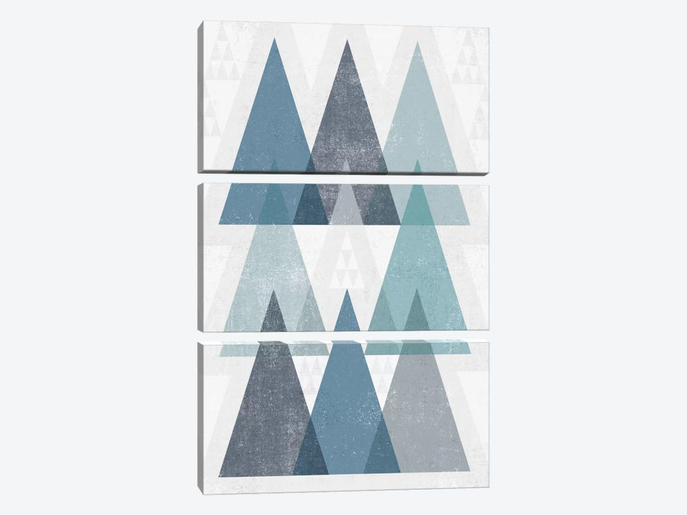 Mod Triangles IV.A by Michael Mullan 3-piece Canvas Wall Art