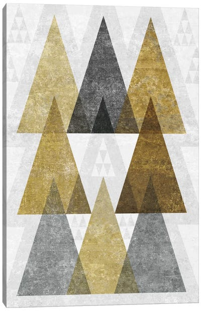 Mod Triangles IV.B Canvas Art Print