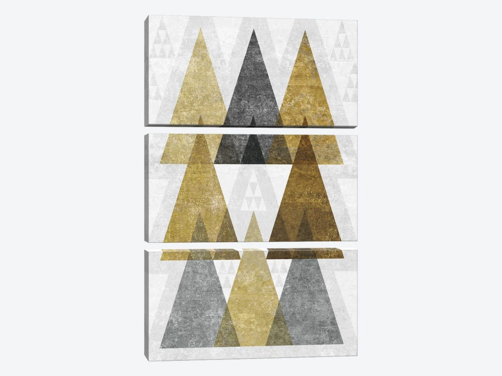 Mod Triangles IV.B by Michael Mullan 3-piece Canvas Print