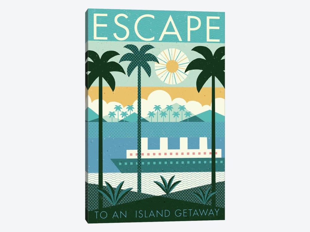 Vintage Travel Poster: ESCAPE 1-piece Art Print