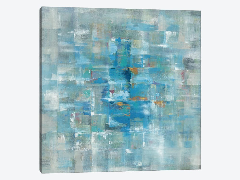 Abstract Squares by Danhui Nai 1-piece Canvas Wall Art