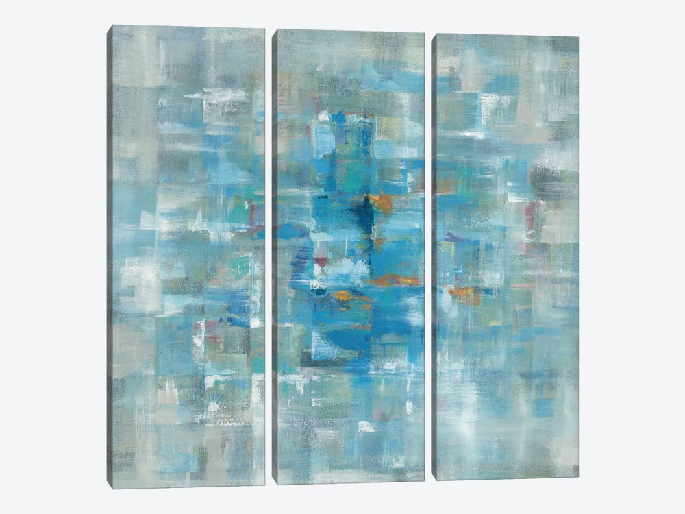 Abstract Squares by Danhui Nai 3-piece Canvas Artwork