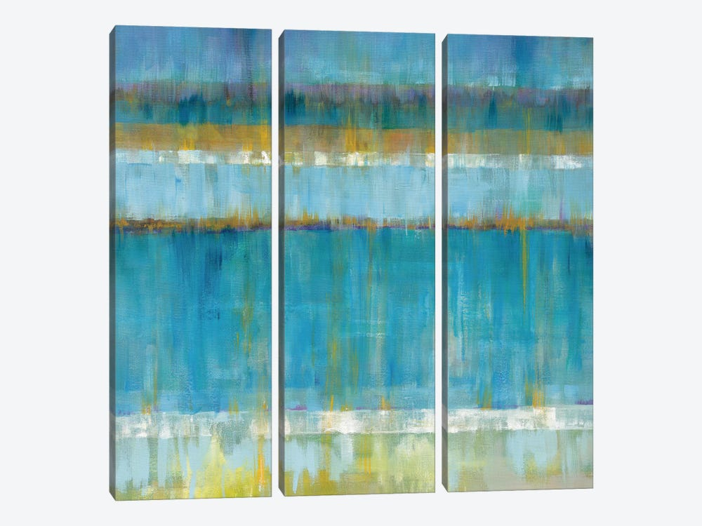 Abstract Stripes by Danhui Nai 3-piece Canvas Art Print