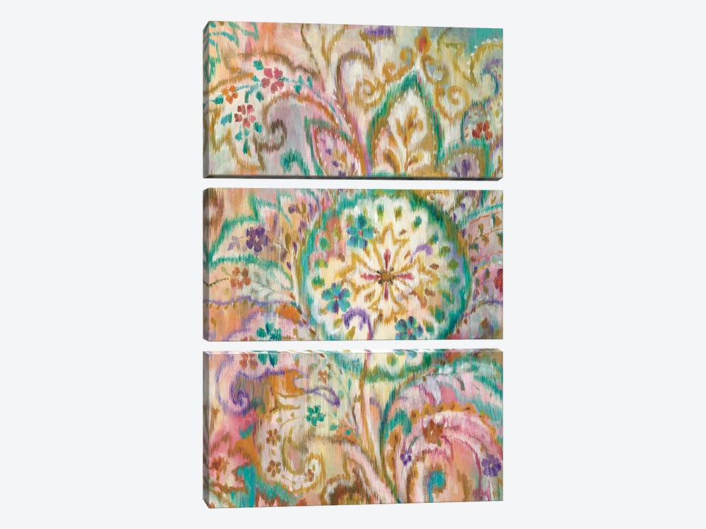 Boho Paisley I by Danhui Nai 3-piece Canvas Art