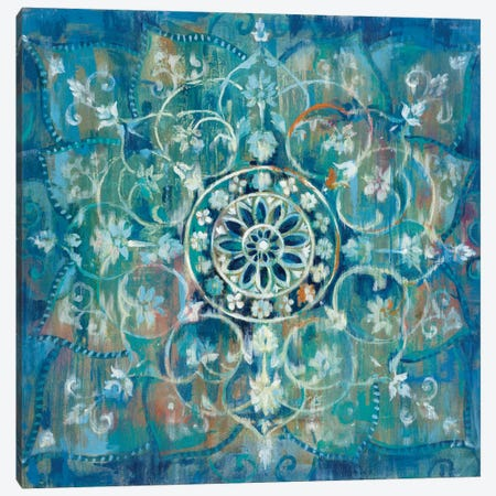 Mandala In Blue III Canvas Print #WAC4341} by Danhui Nai Canvas Artwork