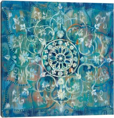 Mandala In Blue III Canvas Print #WAC4341