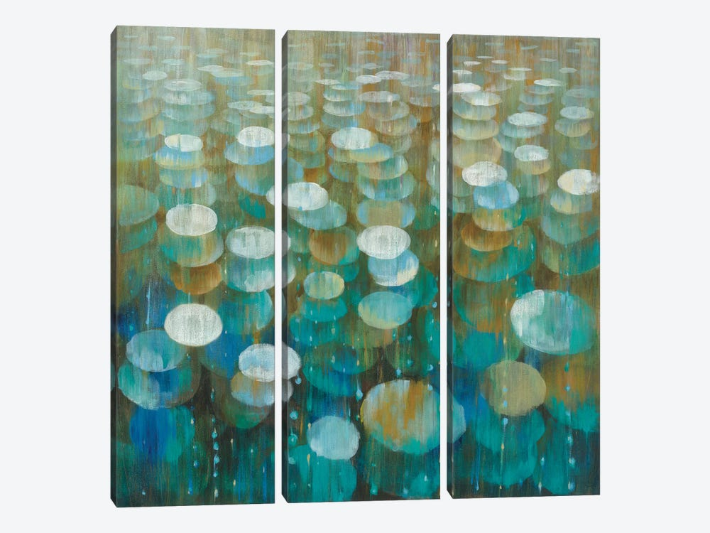 Rain Drops by Danhui Nai 3-piece Canvas Wall Art