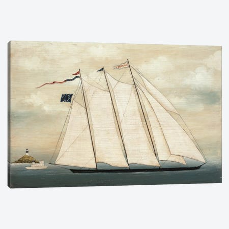 Tall Ship I Canvas Print #WAC4355} by David Carter Brown Canvas Wall Art