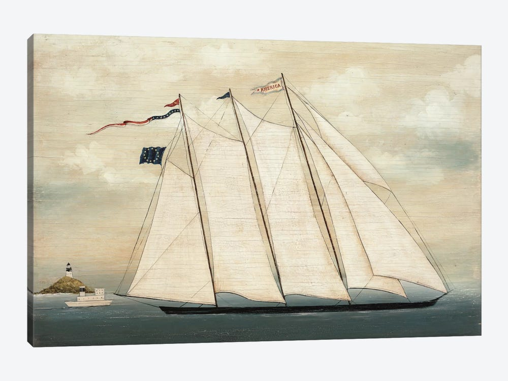 Tall Ship I by David Carter Brown 1-piece Canvas Art
