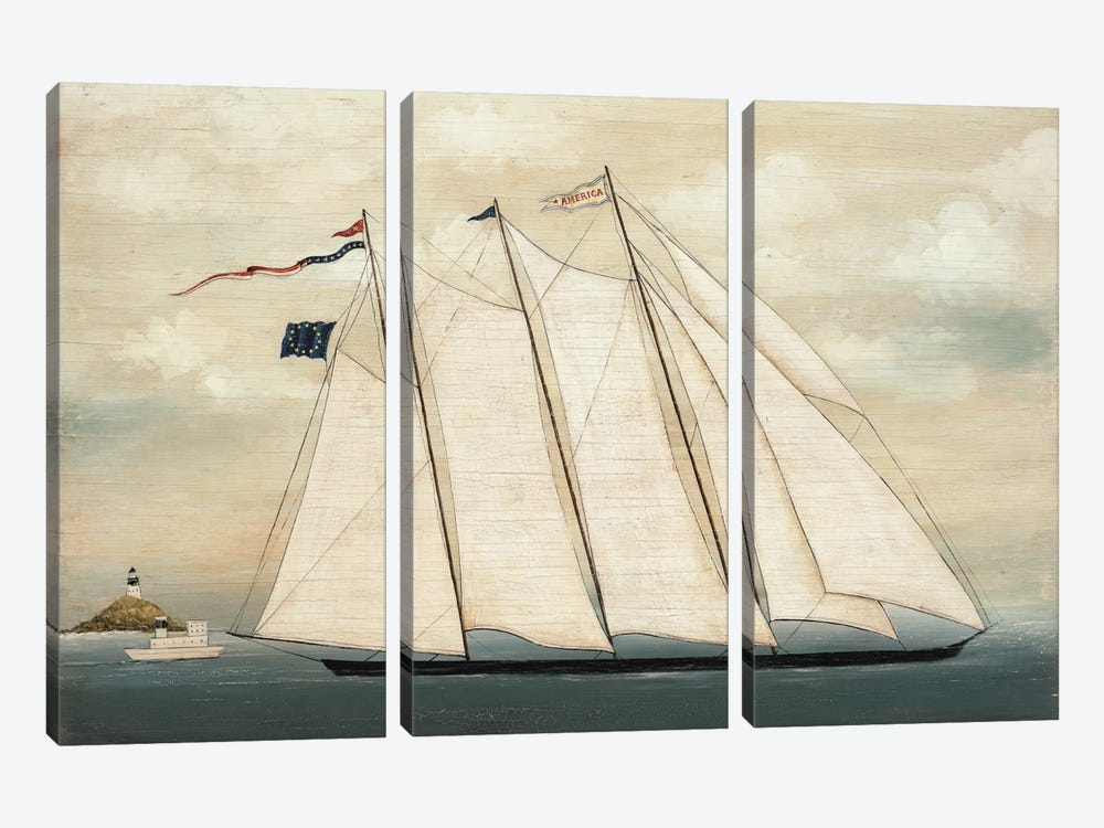 Tall Ship I by David Carter Brown 3-piece Canvas Wall Art