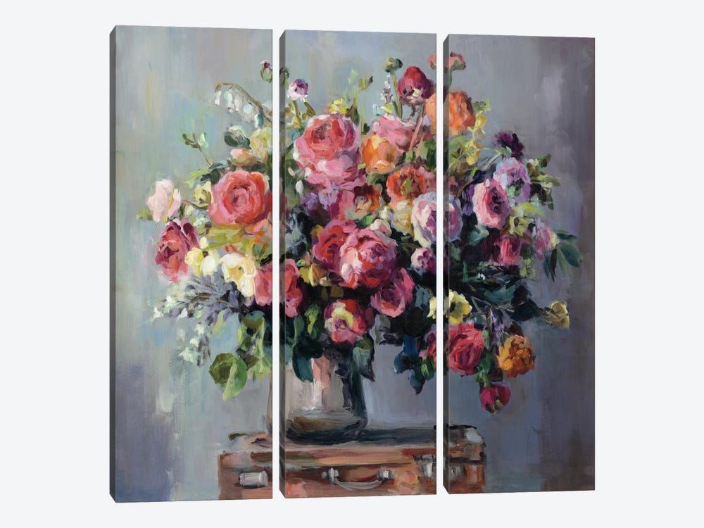 Abundant Bouquet by Marilyn Hageman 3-piece Art Print