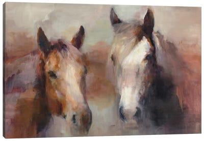 Blazing The West Canvas Art Print