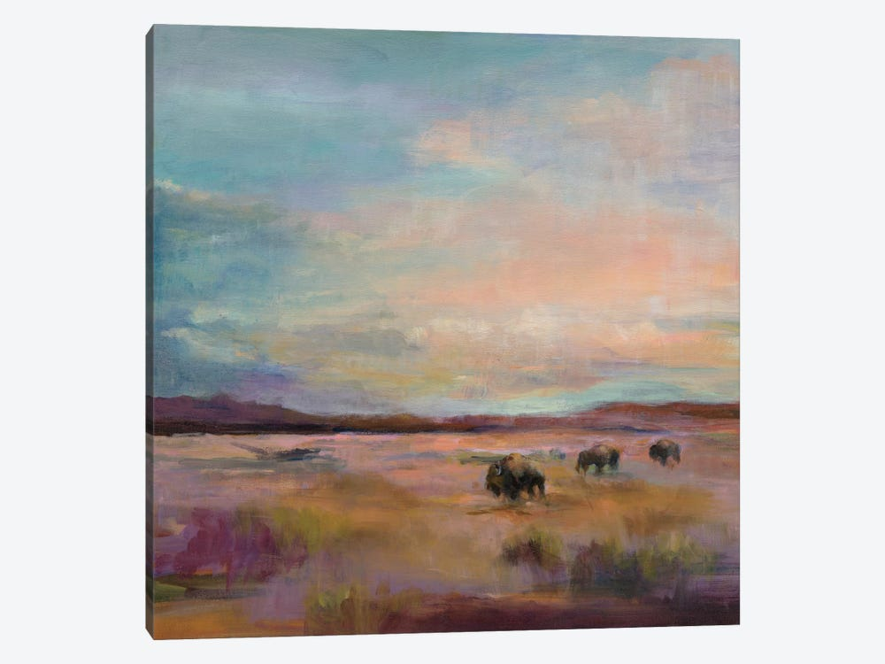 Buffalo Under A Big Sky by Marilyn Hageman 1-piece Canvas Art Print