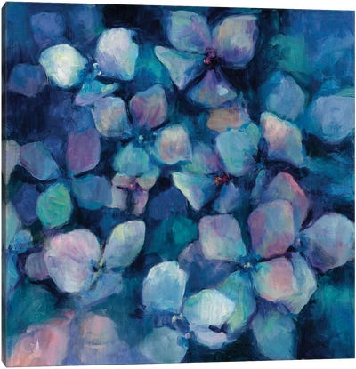 Midnight Blue Hydrangeas Canvas Art Print