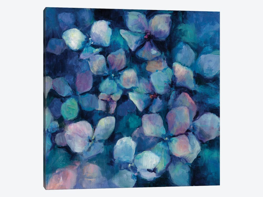 Midnight Blue Hydrangeas by Marilyn Hageman 1-piece Canvas Wall Art