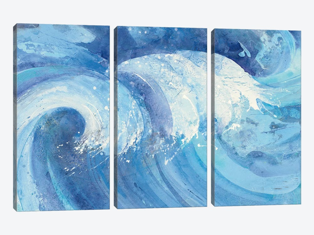 The Big Wave by Albena Hristova 3-piece Canvas Wall Art