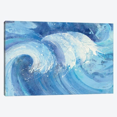 The Big Wave Canvas Print #WAC4388} by Albena Hristova Canvas Artwork